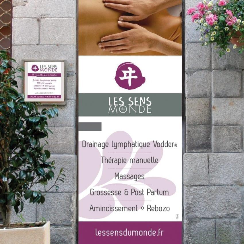 TIKIÔ-habillage-porte-vitrophanie-Les-sens-du-monde-Quimper