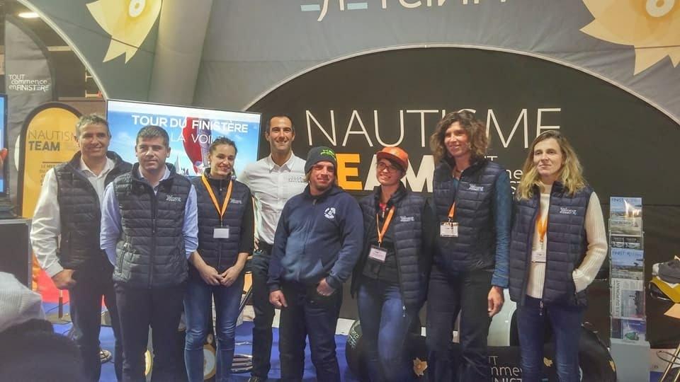 Lancement au Nautic Paris 2017 de la Team Nautisme Tout Commence en Finistère, avec Armel Le Cléac'h