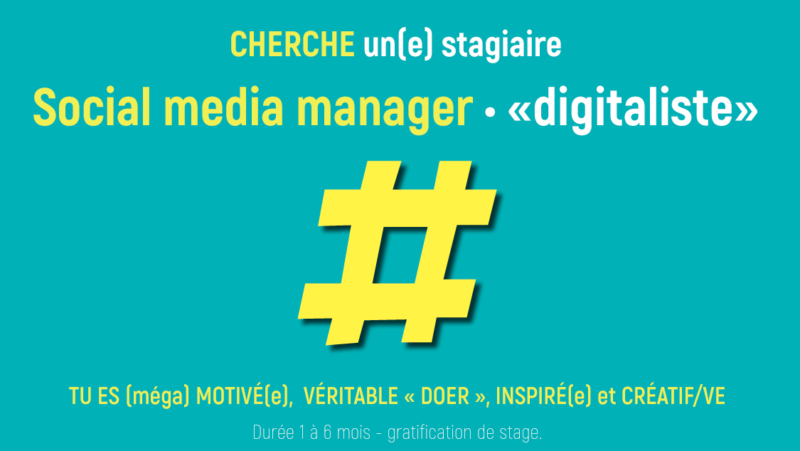 Stage Community manager - agence de communication - web - créative & digitale - social media manager